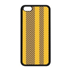 Brown And Orange Herringbone Pattern Wallpaper Background Apple iPhone 5C Seamless Case (Black)