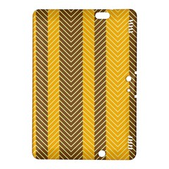 Brown And Orange Herringbone Pattern Wallpaper Background Kindle Fire HDX 8.9  Hardshell Case