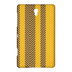 Brown And Orange Herringbone Pattern Wallpaper Background Samsung Galaxy Tab S (8 4 ) Hardshell Case