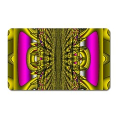 Fractal In Purple And Gold Magnet (Rectangular)