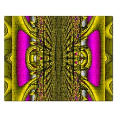 Fractal In Purple And Gold Rectangular Jigsaw Puzzl