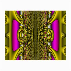 Fractal In Purple And Gold Small Glasses Cloth (2 Side)