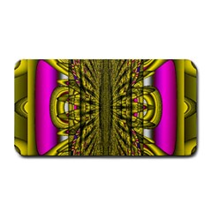Fractal In Purple And Gold Medium Bar Mats