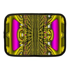 Fractal In Purple And Gold Netbook Case (Medium)