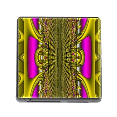 Fractal In Purple And Gold Memory Card Reader (square)