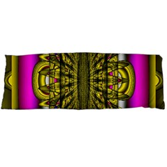 Fractal In Purple And Gold Body Pillow Case Dakimakura (Two Sides)