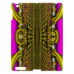 Fractal In Purple And Gold Apple Ipad 3/4 Hardshell Case