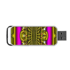 Fractal In Purple And Gold Portable USB Flash (Two Sides)