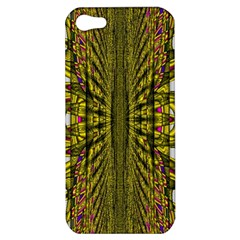 Fractal In Purple And Gold Apple iPhone 5 Hardshell Case