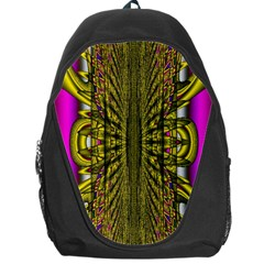 Fractal In Purple And Gold Backpack Bag