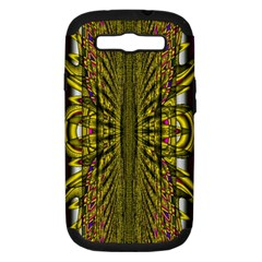 Fractal In Purple And Gold Samsung Galaxy S III Hardshell Case (PC+Silicone)
