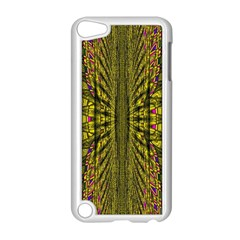 Fractal In Purple And Gold Apple iPod Touch 5 Case (White)