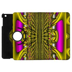 Fractal In Purple And Gold Apple iPad Mini Flip 360 Case