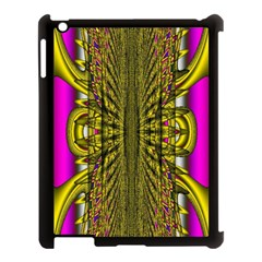 Fractal In Purple And Gold Apple Ipad 3/4 Case (black)