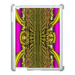 Fractal In Purple And Gold Apple iPad 3/4 Case (White)