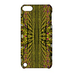 Fractal In Purple And Gold Apple iPod Touch 5 Hardshell Case with Stand