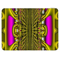 Fractal In Purple And Gold Samsung Galaxy Tab 7  P1000 Flip Case