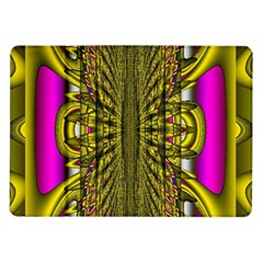Fractal In Purple And Gold Samsung Galaxy Tab 10 1  P7500 Flip Case