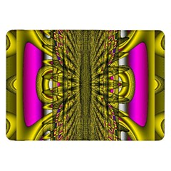 Fractal In Purple And Gold Samsung Galaxy Tab 8.9  P7300 Flip Case