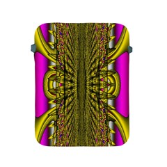 Fractal In Purple And Gold Apple iPad 2/3/4 Protective Soft Cases