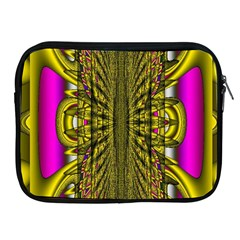 Fractal In Purple And Gold Apple iPad 2/3/4 Zipper Cases