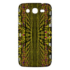 Fractal In Purple And Gold Samsung Galaxy Mega 5.8 I9152 Hardshell Case
