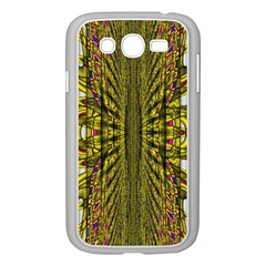 Fractal In Purple And Gold Samsung Galaxy Grand DUOS I9082 Case (White)