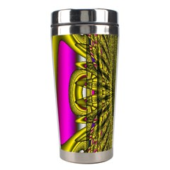 Fractal In Purple And Gold Stainless Steel Travel Tumblers