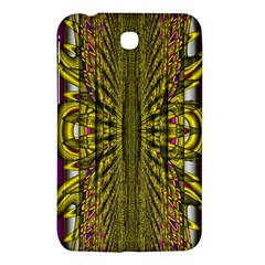 Fractal In Purple And Gold Samsung Galaxy Tab 3 (7 ) P3200 Hardshell Case