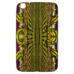 Fractal In Purple And Gold Samsung Galaxy Tab 3 (8 ) T3100 Hardshell Case