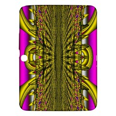 Fractal In Purple And Gold Samsung Galaxy Tab 3 (10 1 ) P5200 Hardshell Case