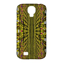 Fractal In Purple And Gold Samsung Galaxy S4 Classic Hardshell Case (PC+Silicone)