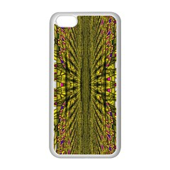 Fractal In Purple And Gold Apple Iphone 5c Seamless Case (white)