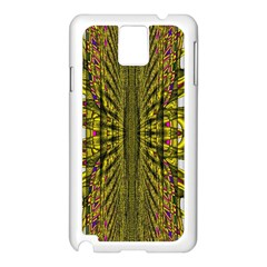 Fractal In Purple And Gold Samsung Galaxy Note 3 N9005 Case (White)
