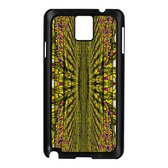 Fractal In Purple And Gold Samsung Galaxy Note 3 N9005 Case (Black)