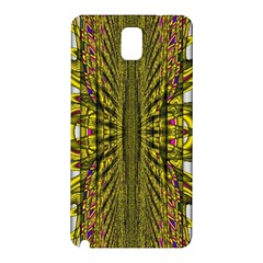 Fractal In Purple And Gold Samsung Galaxy Note 3 N9005 Hardshell Back Case