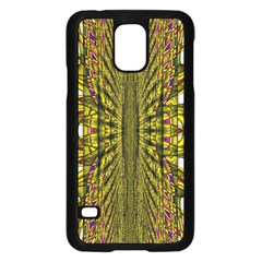 Fractal In Purple And Gold Samsung Galaxy S5 Case (black)