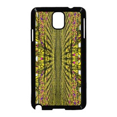 Fractal In Purple And Gold Samsung Galaxy Note 3 Neo Hardshell Case (Black)
