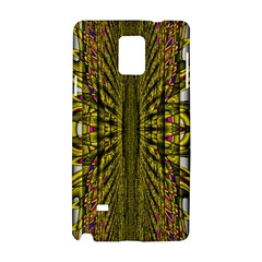 Fractal In Purple And Gold Samsung Galaxy Note 4 Hardshell Case