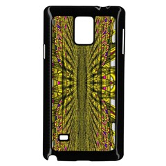 Fractal In Purple And Gold Samsung Galaxy Note 4 Case (Black)