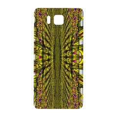 Fractal In Purple And Gold Samsung Galaxy Alpha Hardshell Back Case