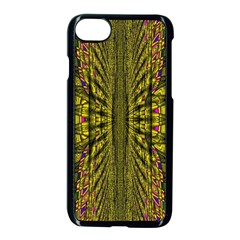 Fractal In Purple And Gold Apple Iphone 7 Seamless Case (black)