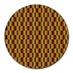Gold Abstract Wallpaper Background Round Mousepads