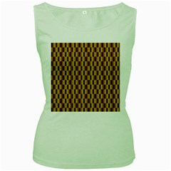 Gold Abstract Wallpaper Background Women s Green Tank Top