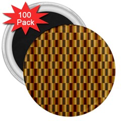 Gold Abstract Wallpaper Background 3  Magnets (100 Pack)