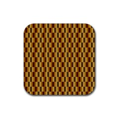 Gold Abstract Wallpaper Background Rubber Coaster (square)
