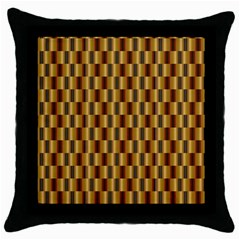 Gold Abstract Wallpaper Background Throw Pillow Case (Black)