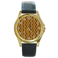 Gold Abstract Wallpaper Background Round Gold Metal Watch