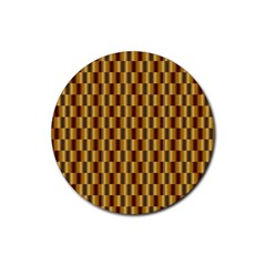 Gold Abstract Wallpaper Background Rubber Round Coaster (4 Pack)