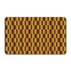 Gold Abstract Wallpaper Background Magnet (rectangular)